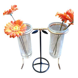 Steampunk Spectacle Bud Vase - Decorative Flower Vase - FREE SHIPPING !!!!!!
