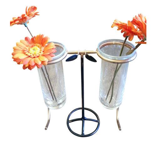 Steampunk Spectacle Bud Vase - Decorative Flower Vase - FREE SHIPPING !!!!!!