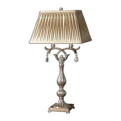 Floriane Silver Table Lamp