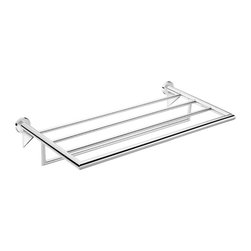 WS Bath Collections - 23.4 in. Towel Bar in Polished Chrome - Contemporary style. Premium quality. Avantgarde. Warranty: One year. Made from solid brass base. Polished chrome color. Made in Spain. No assembly required. 23.4 in. W x 10.6 in. D x 3.5 in. H (15 lbs.)Kubic cool the very well known brand name for premium and highend bathroom furnishings. Unique and fine bath complements and accessories of various designs and materials