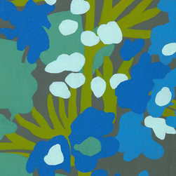 """Emma at Home - Blue Green 1 Canvas, 8"""" x 24"""" - Plants are the best way to add life to a home, but they unfortunately also run the risk of ending up, um, dead. Use this verdant art piece to add a strip of vibrant greenery. And better still, you'll never have to worry about overwatering."""