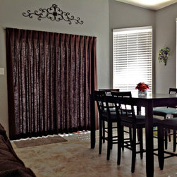 Curtain - Sliding glass door curtain furnished and installed by Kite's Interiors