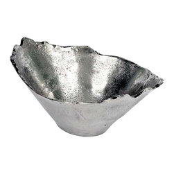 """Star Home - Cone Shaped Nut Bowl - The perfect bowl for serving. Food safe. Dry immediately after washing with warm soapy water. Do not place in microwave or freezer. Dimensions: 10"""" D x 4"""" H"""