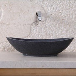 "Virtu USA - Virtu USA Bia Vessel Sink - Dark Grey Granite - Providing classic warmth, the Bia granite vessel basin establishes a sleek, complementary centerpiece to your bathroom vanity. It is transitionally designed to be mounted over the countertop for an elegant and classic appearance. The construction of this natural stone vessel adds enduring strength while maintaining pure elegance that works with many interior styles. Virtu USA uses the finest selection of raw materials to ensure the highest quality product. With a durable glaze to ensure lasting beauty, the Bia basin makes a sophisticated and practical addition to any bathroom improvement.FeaturesMaximum Dimensions: 18.9"" W x 15"" D x 5.1"" HHoned Finish Natural G654 Granite StoneConstructed natural stone for durability and enduring strengthHoned finish gives a satin-feel, smooth and velvety to the touchHighly resistant to chipping and scratchingWithstands heat for handling extreme temperaturesAdditionally tolerant to extreme temperature changesTransitionally carved to set off a timeless designSeamless 1-piece design for easy cleaning and maintenanceInstalls over the countertop in a freestanding configurationDrain hole template provided for easy installationRequires vessel drain without overflowNo Assembly RequiredLifetime Limited from Virtu USAVirtu USA reserves the right to repair, replace or refund any products resulting from a manufacturer's defect."