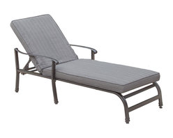 Great Deal Furniture - Palmo Outdoor Adjustable Lounge - Relax and enjoy the outdoors with the Palmo Lounge. Constructed in cast aluminium, this piece includes a padded cushion and adjustable features for your lounging preference.