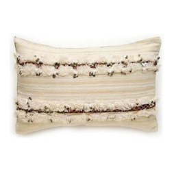 Madeline Weinrib Pillow - A small way to bring home a traditional Moroccan wedding blanket.  Don't you just love the sparkle?