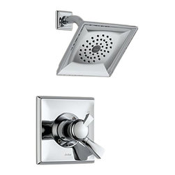 Delta - Delta T17251 Dryden Monitor 17 Series Shower Trim (Chrome) - Delta T17251 Dryden Collection offers a design style reminiscent of the Art Deco period  with geometric line for a clean and appealing addition to you design style. The Delta T17251 is a Monitor Shower Only Trim in Chrome.