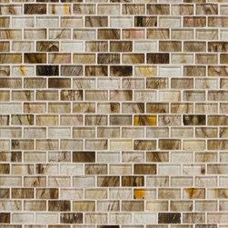 Mantra Mini-Brick Mosaic in Brown Tea Gloss - MANTRA