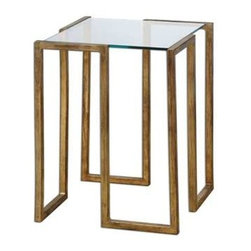 Uttermost - Uttermost Mirrin Accent Table - 24368 - Uttermost's accent tables combine premium quality materials with unique high-style design.
