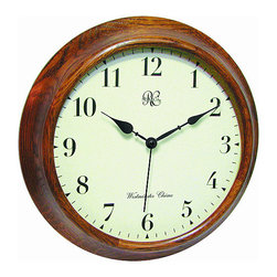 RIVER CITY CLOCKS - Oak Post Office Chiming Wall Clock - This chiming wall clock features: