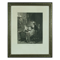 EuroLux Home - Antique German Print of Sleeping - Product Details