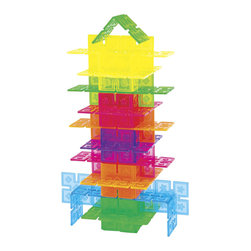 Guidecraft - Guidecraft Translucent Plastic Panels Interlox - 96 Pieces - Guidecraft - Wooden Play Sets - G16835 - Build design and create with Interlox! No hardware or tools necessary; simply clip the edges together to create an unlimited array of constructions: buildings people robots fantasy animals and more.
