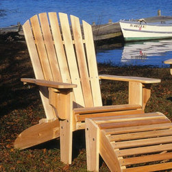 Rustic Cedar Oversize Adirondack Chair - I just can't resist a classic piece like the Adirondack chair. It takes me to the beach in my own backyard.