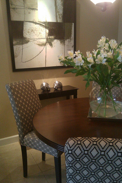 Eclectic Dining Room by FOCAL POINT STYLING