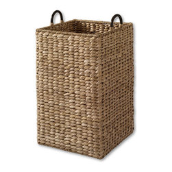 Large Grand Portage Seagrass Bin - This seagrass bin offers coastal textures and a lot of storage. Use it for laundry, toys, linens or whatever else you need to store.