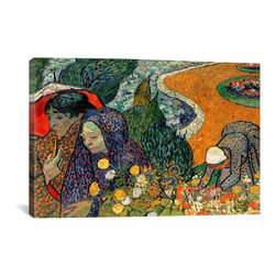 Vincent van Gogh Canvas Print, Ladies of Arle (Memories of The Garden at Etten - Museum-quality canvas print by Vincent van Gogh gallery wrapped and ready for wall hanging with no additional framing required. The canvas print is remarkably bright in color and unrivaled in detail with quality ink that has been light-tested to last over 100 years!