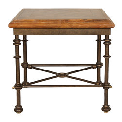 """GILANI - Etruscan Lamp Table Base - Etruscan Lamp Table Base. Style no: ST84400. 28""""w x 28""""d x 25""""h. Material: Metal. Finish: As specified. Top Options: Wood, glass, stone, copper. Custom sizing available. Designed by Shah Gilani, ASFD."""