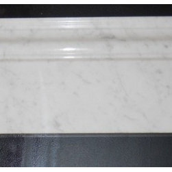 White Carrara Polished Marble Skirting Baseboard Molding Millwork Trim - Double Ogee 5 in. x 12 in. White Carrara Polished Marble Skirting Baseboard Decorative Molding Millwork Trim is a great way to enhance your decor with a traditional aesthetic touch. This decorative skirting molding is constructed from durable, impervious marble material, comes in a smooth, unglazed finish and is suitable for installation on kitchen backsplash, finish wall tile, molding, shower wall, ceramic tile in commercial and residential spaces.