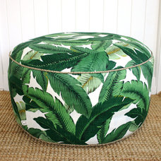 Tropical Ottomans And Cubes by Etsy