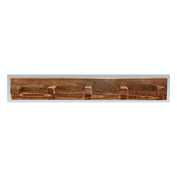 Montana Woodworks - 36 in. Coat Rack - Includes hardware. Hand crafted. Heirloom quality. Mounts easily to most walls. Timbers and trim pieces are sawn square. Rustic timber frame design. Made from American grown wood. Stained and lacquered finish. Made in USA. No assembly required. 36 in. W x 8 in. D x 6 in. H (5 lbs.). Warranty. Use and Care InstructionsThe log coat rack from Montana woodworks mounts easily to most any wall. Provides a sturdy and attractive solution to the everyday problem of coats lying around the house. The artisans rough saw all the timbers and accessory trim pieces for a look uniquely reminiscent of the timber-framed homes once found on the American frontier.