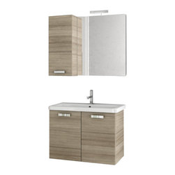 ACF - 30 Inch Larch Canapa Bathroom Vanity Set - Rectangular in shape and a contemporary design make this bathroom vanity set ideal for you master bathroom.
