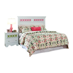 Standard Furniture - Standard Furniture My Room 5-Piece Headboard Bedroom Set in White - My Room girls youth collection is sure to be every girls dream bedroom with its functional pieces, feminine style details, and versatile color scheme options.
