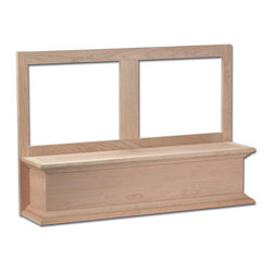Canopy Style Mantel Hood Front -