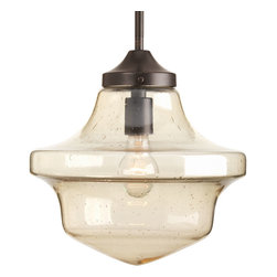 "Progress Lighting - Progress Lighting P5138-20 One-Light Globe Pendant (12"") Clear Light Umber Seede - One-light globe pendant (12"")"