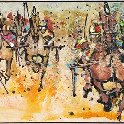 Ernest Aebi, Roosevelt Raceway, Oil Painting - Artist:  Ernest Aebi