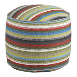 Cayden Pouf - The unique woven material of this brightly colored pouf (love that word!) gives it a great flash of international flair. It's definitely classic in design, but I can see it looking great in a room with earthy, organic tones and a few exotic accents.