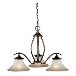 Vaxcel - Vaxcel H0023 Sonora 3-Light Chandelier Venetian Bronze - Vaxcel H0023 Sonora 3-Light Chandelier Venetian Bronze