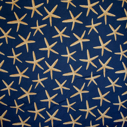 Blue starfish fabric sea star upholstery navy - A star fish fabric. A blue upholstery weight fabric with sea stars!