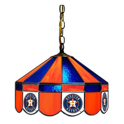 Imperial International - Houston Astros MLB 16 - This 16-inch glass lamp is a great way to properly light your Pool Table while showing off your team spirit then. Real stained glass that matches your favorite teams colors. Looks great in any game room. Rack 'Em Up!