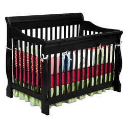 "Delta Children's Products - Canton 4-in-1 Convertible Crib - The Canton Crib is the ultimate in both style and functionality when it comes to cribs. With It's gorgeous finish and impeccable design, it's sure to become a focal point in your home for years to come. This beautiful crib converts easily to a toddler bed, day bed and full size bed with headboard so it's not only stylish, it's functional and economic. The crib features a 3 position mattress support so your little one sleeps in ultimate comfort and it is built of solid hardwoods with a non-drop side design for the ultimate in safety. This crib is JPMA/ASTM certified and contains no lead. Tools included. Features: -Canton collection. -Non - toxic finish. -Made of solid hardwood. -Classic Convertible Crib Converts to a Daybed, Full - Size Bed, Toddler Bed. -Combines an element of style functionality and quality that is unmatched. -Transitional capability makes it a must have for your little one. -Stationary non-drop side design. -Fit's standard crib mattress. -JPMA and ASTM certified. -3 - Position Mattress Support. -Solid Wood Design. -This is a NON-Drop Side crib. Dimensions: -Canton 4 in 1 Convertible Crib: 54.5"" H x 34.5"" W x 43.5"" D, 62 lbs. -Canton Wood Full Size Bed Rails: 9"" H x 9"" W x 83"" D, 33 lbs."