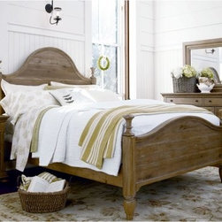 Paula Deen Down Home Poster Bed - Oatmeal - The Paula Deen Down Home Poster Bed - Oatmeal has a beautiful traditional style that adds a timeless quality to any design. This handsome poster bed features a sturdy frame made from fine hardwood solids and featuring four tall posts. Select poplar veneers and a light oatmeal finish provide the piece with an elegant appearance, while the high headboard and scrolled design accentuate the classical elements of the piece. King, queen, California king, and twin sizes are available (see below for dimensions).DimensionsKing: 88L x 82W x 70H inchesQueen: 82L x 66W x 66H inchesCalifornia king: 82L x 82W x 70H inchesTwin: 77L x 42W x 60H inchesAbout Universal Furniture InternationalRecognized as a leader in exceptionally crafted home furnishings, including bedroom and dining room items, entertainment centers, and more, Universal strives to make items that are styled to endure but always remain fresh. They make it a goal to include features that fit the way their customers live today, and to find prices that put high-quality products within reach. These are the principles that guide the work at Universal, essential elements of good, affordable, and smart design.