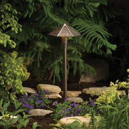 Kichler Lighting - Kichler Lighting 15401AZT Landscape 12v 1 Light Pathway Lighting in Textured Arc - Shingle Path Head