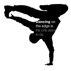 Dana Decals - Dancing on the Edge Wall Decal - Ideal for homes, kids rooms, coffee shops, and schools.
