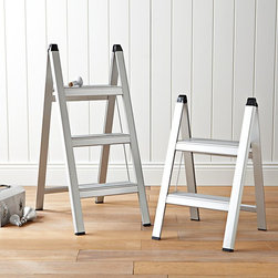 Ultraslim Aluminum Step Stool - You shouldn't ever have to compromise on beauty in your home. The stainless finish on this step ladder makes it sparkle in your kitchen or workspace.