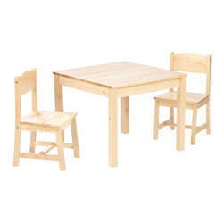 KidKraft - Aspen Table and Chair Set, Natural by Kidkraft - Every child needs their own workspace. Our Aspen Table and 2 Chair Set is the perfect place for coloring, playing board games, working on school projects or even enjoying a quick snack.