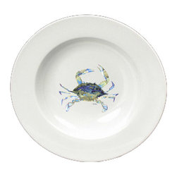 Caroline's Treasures - Blue Crab Round Ceramic White Soup Bowl 8656-SBW-825 - Blue Crab Round Ceramic White Soup Bowl 8656-SBW-825 Heavy Round Ceramic Soup Bisque Gumbo Bowl 8 3/4 inches. LEAD FREE, microwave and dishwasher safe. The bowl has been refired over 1600 degrees and the artwork will not fade or crack. The Artwork for this gift product and merchandise was created by Sylvia Corban copyright and all rights reserved.
