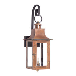 ELK - Elk Lighting 7915-WP Outdoor Gas Shepherd'S Scroll Wall Lantern Maryville - Outdoor Gas Shepherd'S Scroll Wall Lantern Maryville Collection In Solid Brass with an Aged Copper finish.