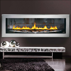 Napoleon LHD50SS Swarovski Crystal Direct Vent Gas Fireplace - Add some heat and sparkle to your bedroom with this Swarovski fireplace. Sleek, contemporary and packed with style, this is the fireplace for bachelorettes.