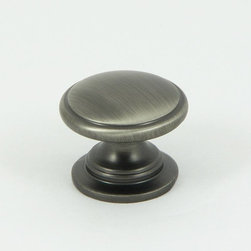 Stone Mill - Stone Mill Hardware 'Saybrook' Weathered Nickel Cabinet Knobs (Pack of 5) - Bring a touch of elegance to your cabinet decor with Stone Mill's classic raised circle design. This weathered nickel finished knob is a throwback to traditional themes while maintaining a modern look.