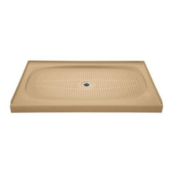 "KOHLER - KOHLER K-9055-33 Salient Receptor Shower Base with Center Drain, 60"" x 36"" - KOHLER K-9055-33 Salient Receptor Shower Base with Center Drain, 60"" x 36"" in Mexican Sand"