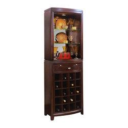 American Drew - American Drew Tribecca Server and Hutch Set - American Drew - China Cabinets - 912890PKG