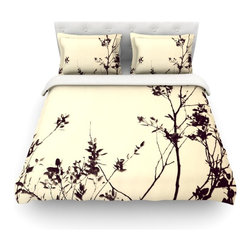 """Kess InHouse - Skye Zambrana """"Silhouette"""" Cotton Duvet Cover (Twin, 68"""" x 88"""") - Rest in comfort among this artistically inclined cotton blend duvet cover. This duvet cover is as light as a feather! You will be sure to be the envy of all of your guests with this aesthetically pleasing duvet. We highly recommend washing this as many times as you like as this material will not fade or lose comfort. Cotton blended, this duvet cover is not only beautiful and artistic but can be used year round with a duvet insert! Add our cotton shams to make your bed complete and looking stylish and artistic! Pillowcases not included."""