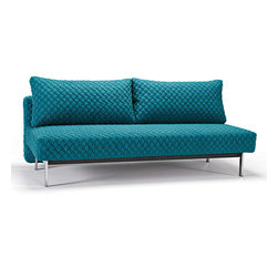 """Innovation"" Sly Coz Petrol Sofa Bed / Chrome Legs - Features:"