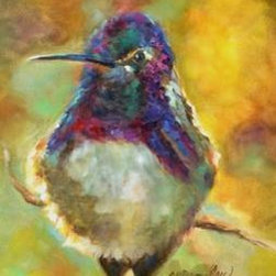 Perfectly Plump (Original) By Chris Brandley - This little hummingbird is not lacking in food supply!