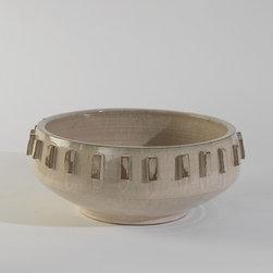 "Studio A Gear Centerpiece Bowl Natural - 17.5""Dia. X 7.5""H"