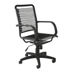 Euro Style - Euro Style Bungie High Back Office Chair X-15520 - Designed to fit your seat.  And your back.  And your workstyle.  With natural ventilation, the Bungies turn long hours of work into the comfort zone.  No napping!